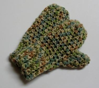 Mitaines (moufles) au crochet pour enfants 2-4 ans