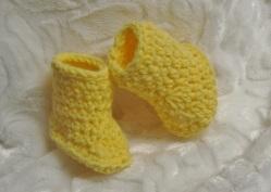 Petits chaussons de l'ensemble citron
