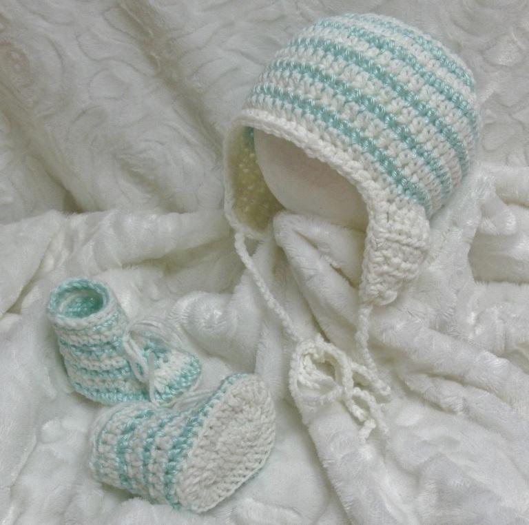 Chaussons et bonnet péruvien pour bébé